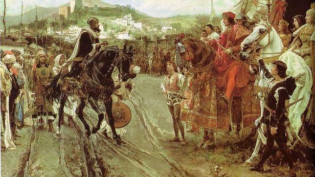 Boabdil entrega llaves de Granada