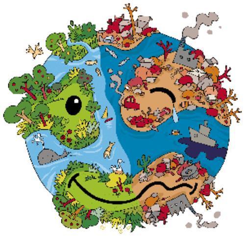 Planeta Tierra enfermo